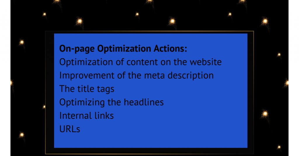 On-page Optimization Actions